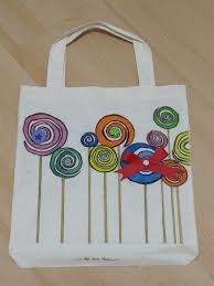 hand painted market tote painted canvas bags bag lunches and