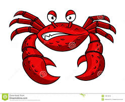 cartoon red crab character stock vector image 44816818