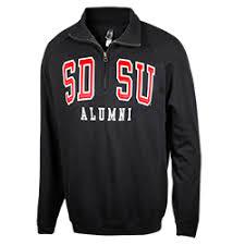 sdsu alumni license plate frame shopaztecs sdsu alumni 1 4 zip sweatshirt