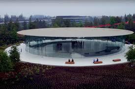 inside apple park u0027s new steve jobs theater curbed sf