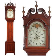 Antique Furniture Stores Indianapolis American Federal Antique Tall Case Clock Benjamin Morris Bucks
