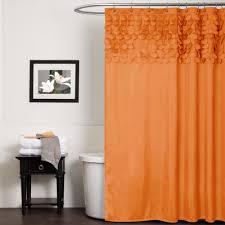 lush decor lillian orange shower curtain overstock com shopping