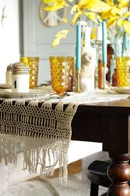 Bohemian Dining Room by Amber And Aqua Vintage Thanksgiving Tablescape Cassie Bustamante