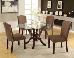 Round Glass Top Pedestal Table Dining Tables Glass Kitchen Table Round Glass Kitchen Table