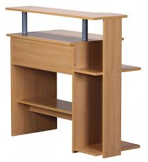 Pc Schreibtisch Mit Aufsatz Finebuy Cevo Computertisch Buche 94 X 90 X 48 Cm Mit