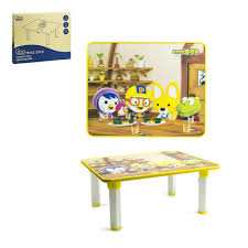 Yellow Table L Pororo Activity Table With Folding Legs Yellow