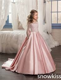 pageant dresses for light pink bling flower girl dresses for wedding bow pageant