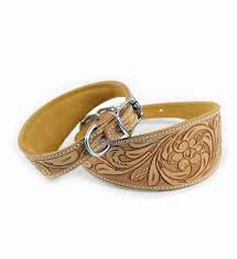 afghan hound collars uk luxury hand carved natural leather dog collar whippet greyhound saluki