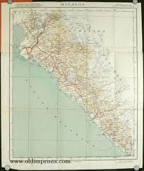 sinaloa mexico map mapa de sinaloa 1954 map title sinaloa mexico
