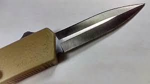 tactical kitchen knives tactical desert sand dual edge lightning otf knife