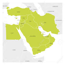 Map Of Western Asia by Map Of Middle East Or Near East Transcontinental Region With