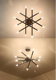 aliexpress com buy 12 lights rod star ceiling lights chrome