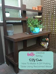 diy dads how to make a diy potting table using reclaimed wood