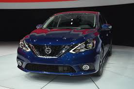blue nissan sentra 2016 nissan u0027s revised 2016 sentra model showcased in l a