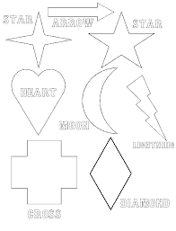 simple geometric shapes coloring pages for kids womanmate com