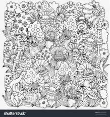 pattern coloring book vector fantasy fairy stock vector 315278624