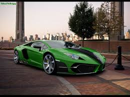 lamborghini green and black car computer artwork by black dogg