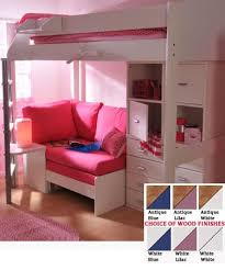 teen girls loft bed with desk stompa casa 6 kids high sleeper