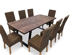 teak dining room set teak dining set with sea grass chairs indoor furniture range