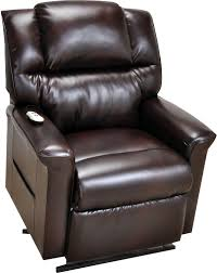 Recliner Chair Side View Bonded Leather 3 Position Power Lift Recliner Brown The Brick