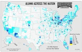 map us colleges interactive alumni map cedarville