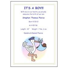 birth announcements pastel stork baby boy birth announcements mandys moon personalized