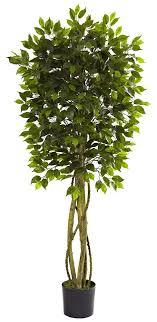 weeping fig ficus indoor outdoor artificial tree 5 5
