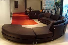 Round Sofa Set Designs Roller Espresso Leather Sectional Round Sofa Leather Sectionals