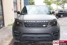 wrapped range rover range rover sport matte deep black wrap