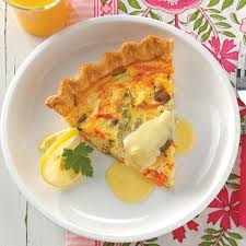cuisine hollandaise crab quiche with hollandaise recipe taste of home