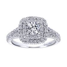 halo engagement ring settings gabriel co halo engagement setting