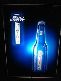 bud light light up sign used bud light platinum acrylic light up sign general in buena