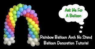 rainbow balloon arch diy balloon decoration tutorial youtube