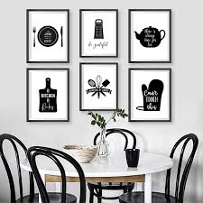 black and white prints for kitchen kitchen wall canvas painting kitchenware kitchen typography posters and prints black white wall pictures kitchen decoration