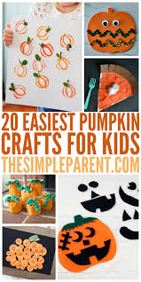easiest pumpkin crafts for kids