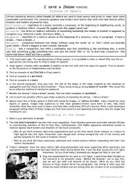 civil rights movement i have a dream worksheet free esl