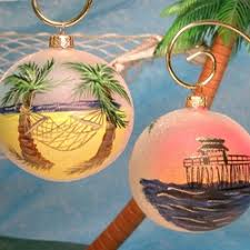 painted florida ornaments make holidays seem more