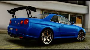 nissan skyline 2015 blue nissan skyline gt r bnr34 tuned for gta san andreas