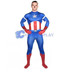 captain america halloween costume men catsuit cosercosplay com