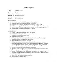 Warehouse Packer Resume 9 Best Photos Of Warehouse Picker Packer Resume Picker And