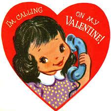 retro valentines retro telephone girl image the graphics fairy