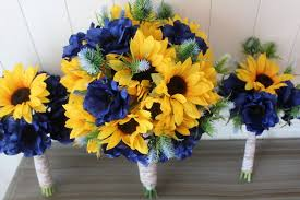 wedding bouquets online summer sunflowers for minneapolis wedding silk wedding flowers