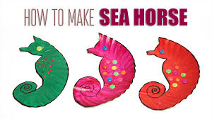 sea horse diy sea horse learn how to make sea horse kids art
