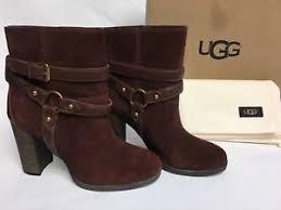 s ugg ankle boots ugg australia dandridge ankle boot mahogany s 1019010 heels