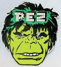 vintage incredible hulk pez halloween mask paper 1980 u0027s