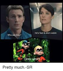 Avengers Kink Meme - who are they he s fast she s weird okay wha pretty much sr