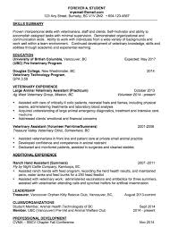 Pre Med Resume Sample by Veterinary Assistant Resume Examples