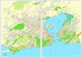 vector maps de janeiro brazil printable vector map exact city