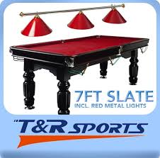 Red Felt Pool Table Solid Timber Slate Pool Table Green Blue Red