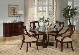 Brilliant Round Table Dining Room Furniture Sets For Decor - Casual dining room set